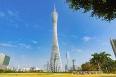 Canton tower Guangzhou city skyline China. Canton tower Guangzhou city .Urban View of China.Asia stock photos