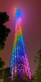 Canton Tower at Night. Guangzhou, Guangdong, China - May 22, 2015: Canton tower at night with illumination Stock Image