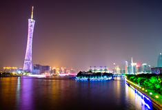 Canton tower in the night. Stock Image