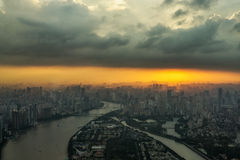 Canton tower observation deck Stock Photos