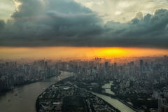 Canton tower observation deck Royalty Free Stock Photography