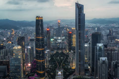 Canton tower observation deck Royalty Free Stock Image