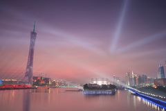 Canton Tower in the Sunset Glow stock image