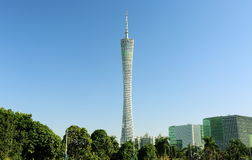 Canton tower Guangzhou modern building. Modern building Canton Tower, formerly known as Guangzhou TV and Sightseeing Tower, is an observation tower in Guangzhou stock image