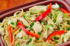 Cantone di Pancit (scalpore Fried Noodles) Fotografie Stock