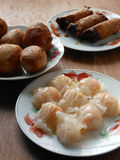 Cantonese assorted dim sum Har gow, Haam Seoi Gaau and Spring ro Stock Image