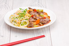 Cantonese Beef with Noodles Royalty Free Stock Photo
