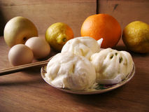 Cantonese breakfast steamed buns Royalty Free Stock Photos
