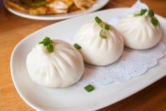 Cantonese food dim sum Pan fried pork bun Royalty Free Stock Photo