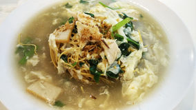 Cantonese mee with egg soup Royalty Free Stock Image