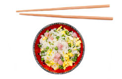 Cantonese rice from above Stock Photo