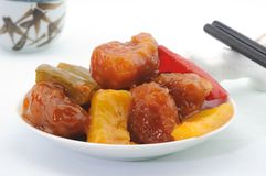 Cantonese Sweet and Sour Pork Royalty Free Stock Photos