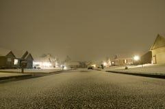 cantonohio snowing Arkivfoto