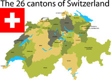 Cantons of Switzerland. royalty free illustration