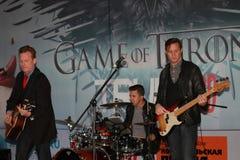 Cantor americano Jace Everett e seu grupo musical Fotografia de Stock Royalty Free