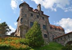 Cantor Castle situado na ilha escura no St Lawrence Seaway, Estados de Nova Iorque Foto de Stock
