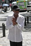 Cantor de Broadway Foto de Stock