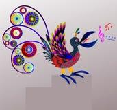 Cantor do pássaro. ilustração do vetor