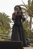 Cantor Franc?s-haitiano Moonlight Benjamin imagem de stock