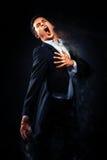 Cantor Performing de Opera foto de stock