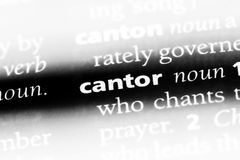 Cantor. Word in a dictionary.  concept Royalty Free Stock Images
