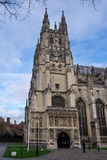 CANTORBERY, KENT/UK - 12 DE NOVIEMBRE: Vista de la catedral de Cantorbery Fotos de archivo