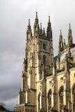 CANTORBERY, KENT/UK - 12 DE NOVIEMBRE: Vista de la catedral de Cantorbery Fotos de archivo libres de regalías