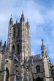CANTORBERY, KENT/UK - 12 DE NOVIEMBRE: Vista de la catedral de Cantorbery Imágenes de archivo libres de regalías