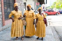 Cantores étnicos das mulheres afro-americanos fotografia de stock royalty free