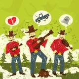Cantores da música folk Fotos de Stock Royalty Free