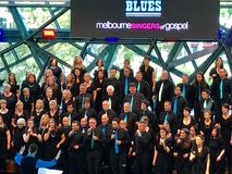 Cantores de Melbourne do concerto do gospel foto de stock royalty free