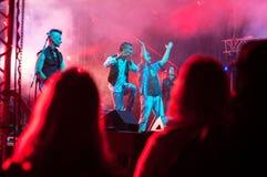 Cantores do grupo de rock Imagem de Stock