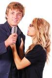 Cantores do karaoke Foto de Stock Royalty Free