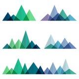 Cantos abstractos de las montañas en estilo geométrico Imagenes de archivo