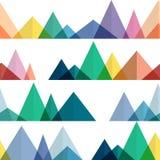 Cantos abstractos de las montañas en estilo geométrico Imágenes de archivo libres de regalías