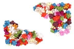 Cantos coloridos da flor de papel imagem de stock royalty free