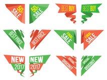 Cantos das bandeiras Imagens de Stock