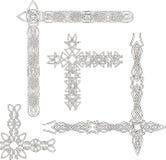 Cantos decorativos celtas do nó Fotos de Stock