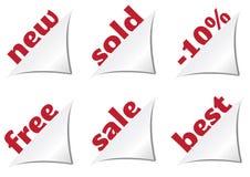 Cantos do vetor para etiquetas do produto Imagem de Stock Royalty Free