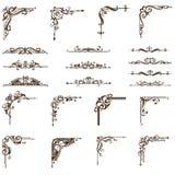 Cantos dos ornamento do vetor ajustados Imagens de Stock