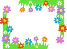 Cantos florais ilustração royalty free