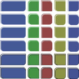 Cantos redondos coloridos Fotos de Stock