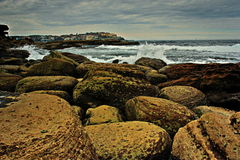 Cantos rodados australianos de la costa Foto de archivo