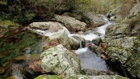 Cantos rodados grandes en el río de Ribeira DA Pena al lado del pueblo de Pena metrajes