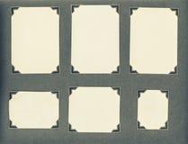 Cantos velhos do quadro de cartões da página do álbum de fotografias fotos de stock