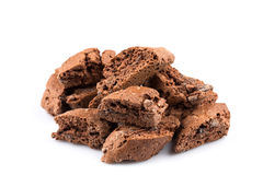 Cantucci with chocolate pieces Royalty Free Stock Image