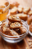 Cantucci cookies in glass bowl Royalty Free Stock Photography