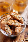 Cantucci cookies in glass bowl Stock Photo