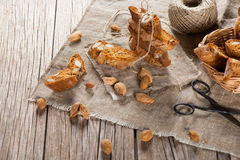 Cantucci with a rope Royalty Free Stock Photos