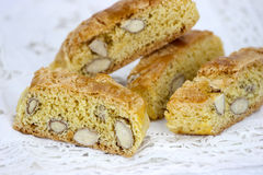Cantucci on the white table Royalty Free Stock Image